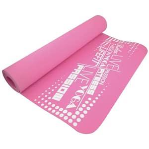 Saltea yoga DHS TPE, 186 x 61 x 0.4 cm, roz