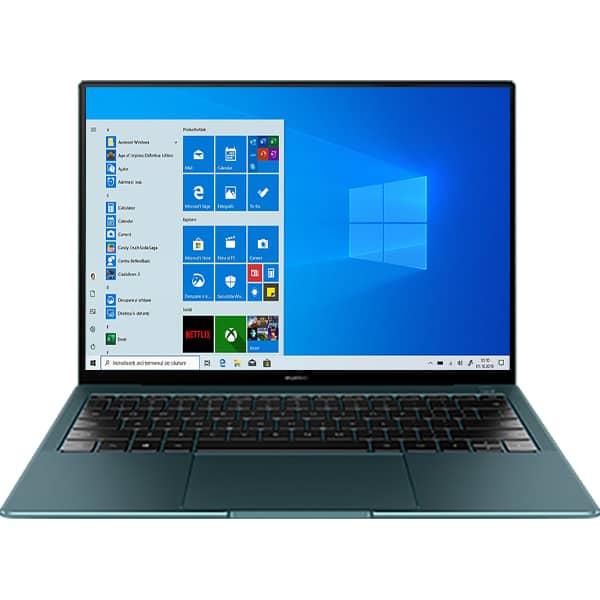 "Laptop HUAWEI MateBook X Pro, Intel Core i7-10510U pana la 4.9GHz, 13.9"" 3K Touch, 16GB, SSD 1TB, NVIDIA GeForce MX250 2GB, Windows 10 Pro, verde"