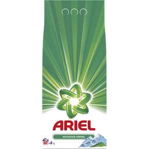 Detergent automat ARIEL Mountain Spring, 8kg, 80 spalari