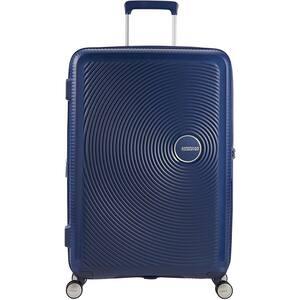 Troler AMERICAN TOURISTER Spinner SoundBox, 67 cm, albastru