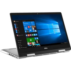 "Laptop 2 in 1 DELL Inspiron 5491, Intel Core i7-10510U pana la 4.9GHz, 14"" Full HD Touch, 8GB, SSD 512GB, Intel UHD Graphics, Windows 10 Home, arginiu"