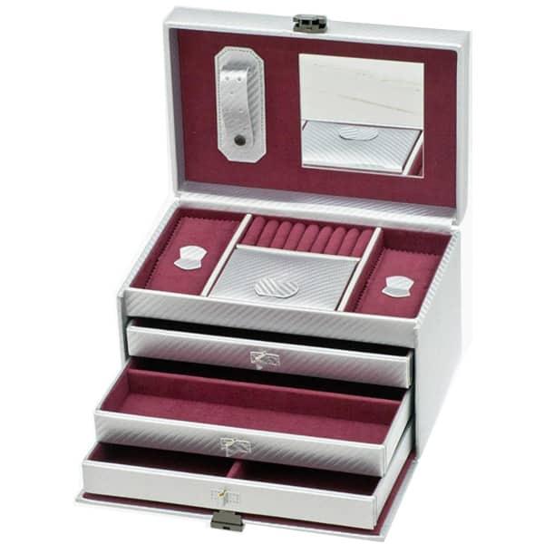 Cutie bijuterii  DAVIDTS Graphite, 24cm, argintiu