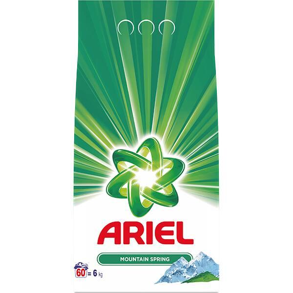 Detergent automat ARIEL Mountain Spring, 6Kg, 60 spalari