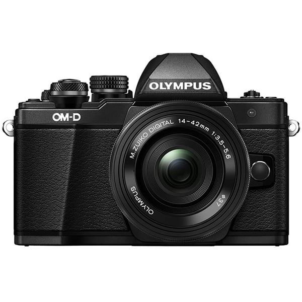 Aparat foto Mirrorless OLYMPUS E-M10 MARK II Pancake, 16 MP, Wi-Fi, negru + Obiectiv 14-42mm