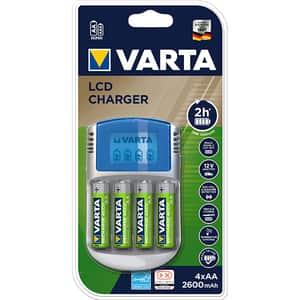 Incarcator VARTA 57070201451, 4 acumulatori AA, 2600mAh