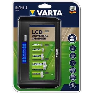 Incarcator universal VARTA 57678101401, Display LCD, Fara acumulatori inclusi