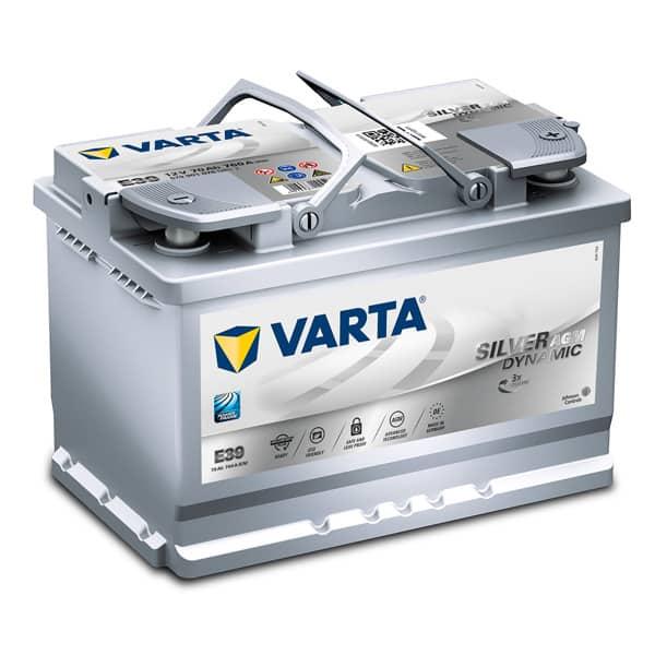 Baterie auto Start-stop plus VARTA E39 Silver Dinamic AGM, 12V, 70Ah, 760A
