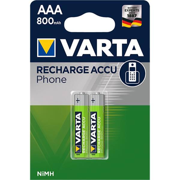 Acumulatori AAA VARTA 58398101402, 800 mAh, 2 bucati