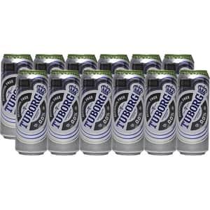 Bere blonda fara alcool Tuborg bax 0.5L x 12 doze