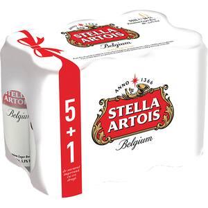 Bere blonda Stella Artois bax 0.5L x 6 cutii