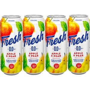 Bere cu arome fara alcool Fresh Mere&Pere bax 0.5L x 4 cutii