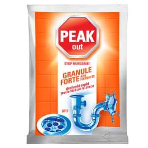Granule pentru desfundat tevi PEAK OUT Apa fierbinte, 80g