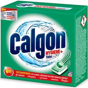Tablete anticalcar CALGON Hygiene+, 15 bucati