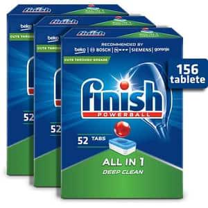 Detergent pentru masina de spalat vase FINISH All in One, 3 x 52 tablete