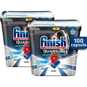 Detergent pentru masina de spalat vase FINISH Quantum Ultimate, 2 x 50 tablete