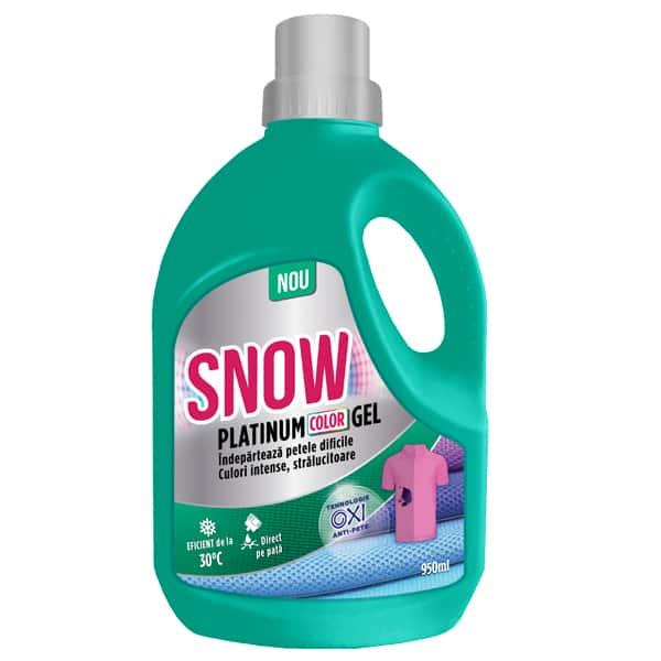 Solutie pentru indepartarea petelor SNOW Platinum Color Gel, 950ml