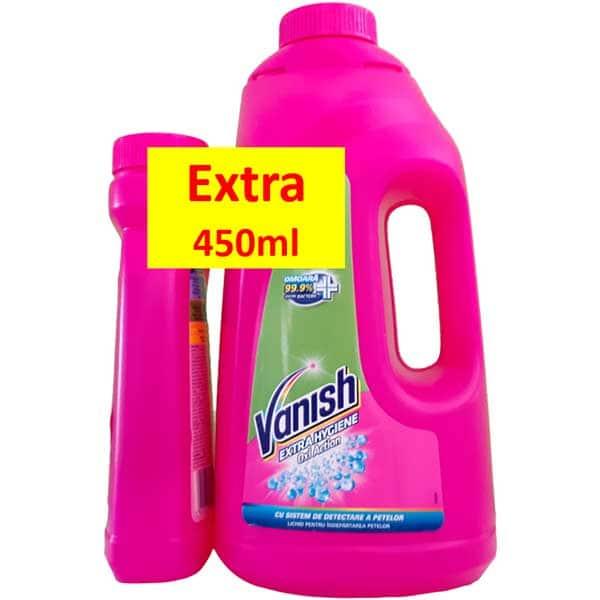 Solutie VANISH Extra Hygiene 1.88l + Pink 450ml