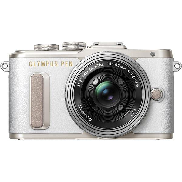 Aparat foto Mirrorless OLYMPUS E-PL8, 16.1 MP, Wi-Fi, argintiu + Obiectiv 14-42mm