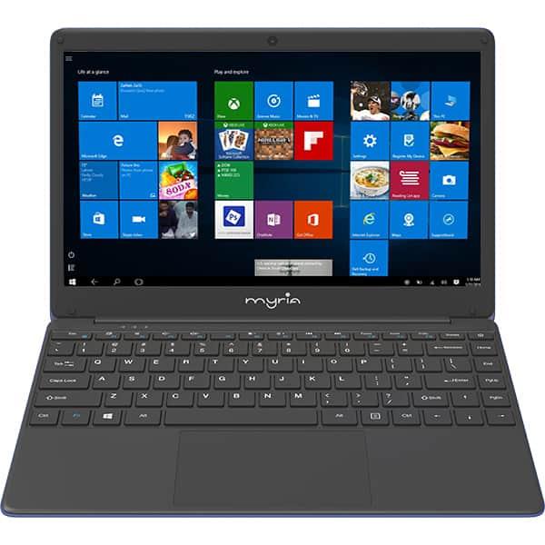 "Laptop MYRIA MY8311BL, Intel® Celeron® N4000 pana la 2.4GHz, 13.3"" Full HD IPS, 4GB, 32GB eMMC, Intel® HD Graphics 600, Windows 10 Home"