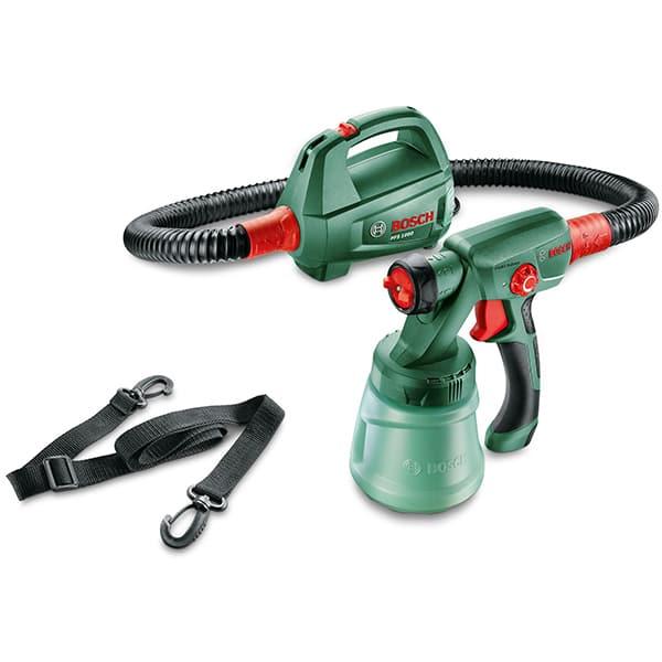 Pistol de vopsit Bosch PFS 1000 0603207000, 410W, rezervor 800ml, capacitate pompare 100ml/min, lungime furtun 1.3m + duza pentru vopsele