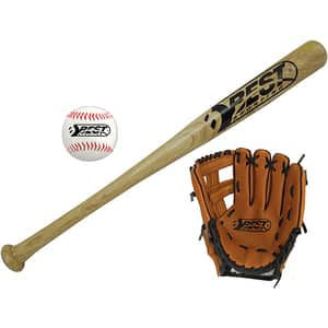 Set baseball BEST SPORTING 63040, bata 61 cm, manusi 24 cm, minge 70 mm