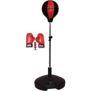 Set box BEST SPORTING 63502, sac cu tija H 130 cm, manusi 6 OZ, mini pompa