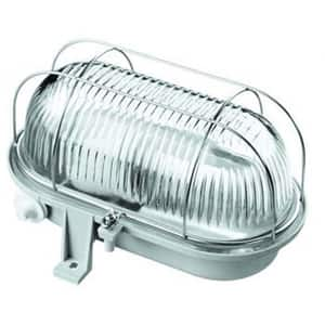 Lampa ovala de exterior GAO 6909H, 60W, IP44, gri