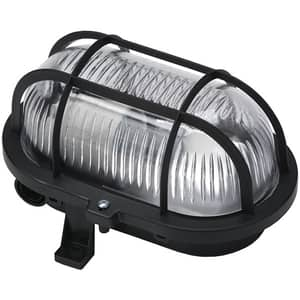 Lampa ovala de exterior GAO 6914H, 60W, IP44, negru