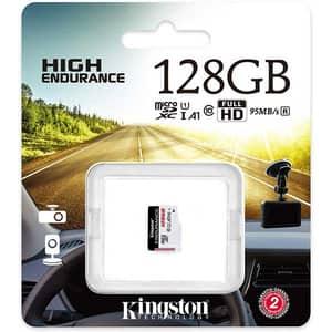 Card de memorie KINGSTON High-Endurance microSDXC 128GB, Clasa 10 UHS-I U1, 95MBs