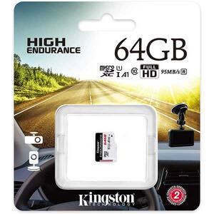 Card de memorie KINGSTON High-Endurance microSDXC 64GB, Clasa 10 UHS-I U1, 95MBs