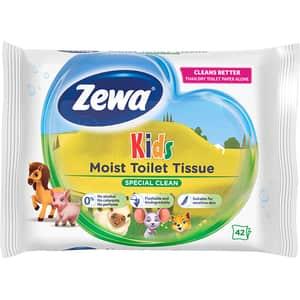 Hartie igienica umeda ZEWA Kids, 42 buc