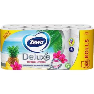 Hartie igienica ZEWA Deluxe editie limitata, 3 straturi, 16 role