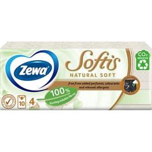 Servetele nazale ZEWA Softis Natural Soft, 4 straturi, 10 pachete x 9 bucati