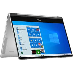 Laptop 2 in 1 DELL Inspiron 7391, Intel Core i7-10510U pana la 4.9GHz, 13.3 Full HD Touch, 8GB, SSD 512GB, Intel UHD Graphics, Windows 10 Home, argintiu