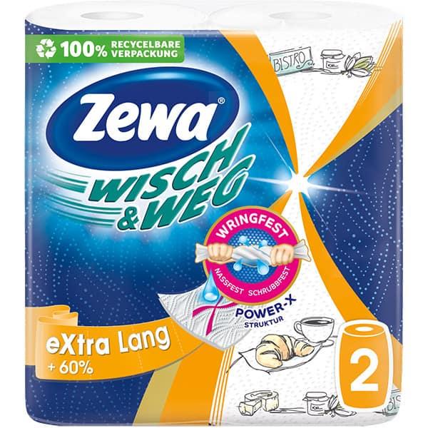 Prosoape de hartie ZEWA Wisch&Weg Design, 2 straturi, 2 role