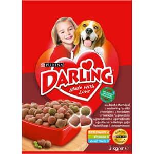 Hrana uscata pentru caini DARLING Adult, Vita si Legume, 3 kg