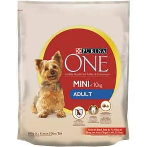 Hrana uscata pentru caini PURINA ONE MINI Adult, Vita si Orez, 800 g