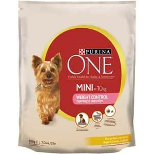Hrana uscata pentru caini PURINA ONE MINI Controlul Greutatii, Curcan si Orez, 800 g