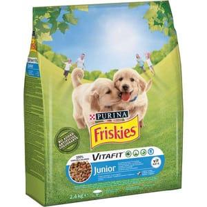 Hrana uscata pentru caini FRISKIES Vitafit Junior, Pui si Legume, 2.4 kg