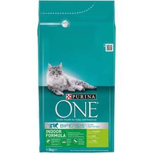 Hrana uscata pentru pisici PURINA ONE Indoor, Curcan si cereale, 1.5 kg