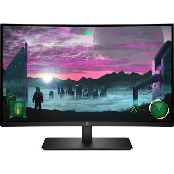 """Monitor Gaming curbat LED VA HP 27x, 27"""", Full HD, 144Hz, AMD Freesync, negru"""