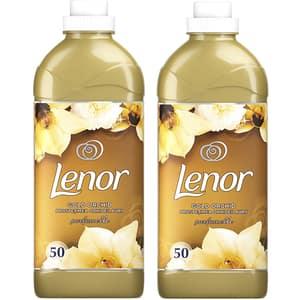 Pachet balsam de rufe LENOR Gold Orchid 2 x 1.5l, 100 spalari