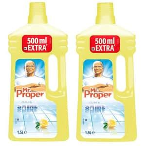 Pachet detergent universal pentru suprafete MR. PROPER, Lemon, 2 x 1.5l