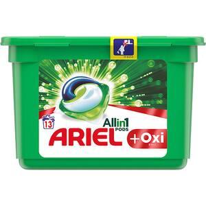 Detergent capsule ARIEL All in One PODS Plus Oxi Effect, 13 spalari