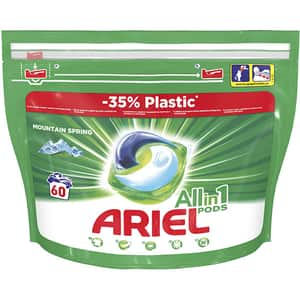 Detergent capsule ARIEL All in One PODS Mountain Spring, 60 spalari