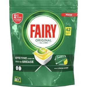 Detergent pentru masina de spalat vase FAIRY All in One, 42 capsule