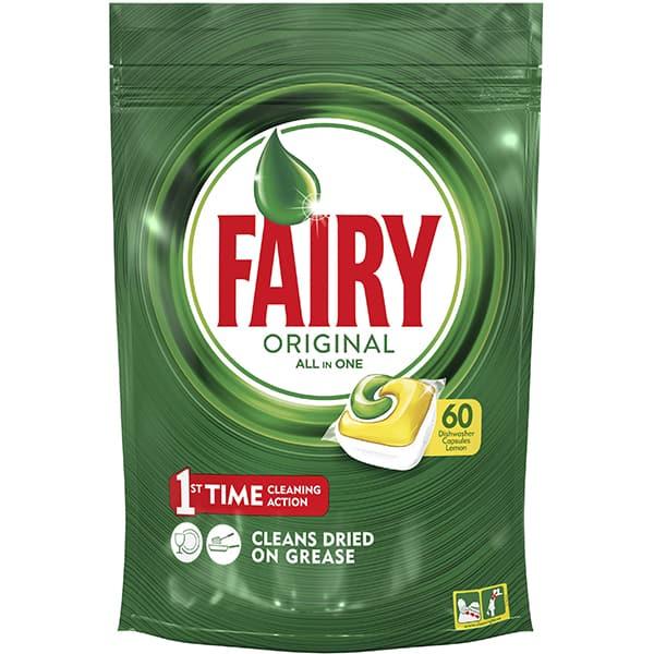 Detergent pentru masina de spalat vase FAIRY All in One, 60 capsule