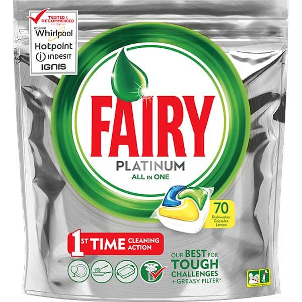 Detergent pentru masina de spalat vase FAIRY Platinum, 70 capsule