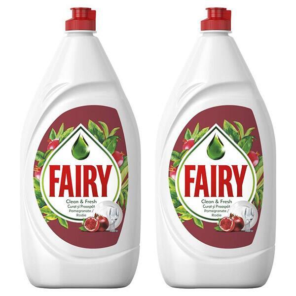 Pachet Promo Detergent de vase FAIRY Pomegranate, 2 x 800 ml