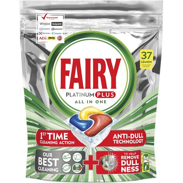 Detergent pentru masina de spalat vase FAIRY Platinum Plus, 37 capsule